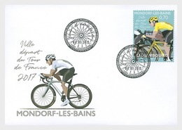 Luxembourg 2017 First Day Cover - The 2017 Tour De France's Starting Stage In Mondorf-les-Bains - Lussemburgo