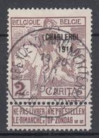 N° 102 SURCHARGE CHARLEROI  1911 TYPE LIGNE - Belgium