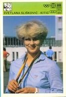 EX. YU. Sloveniasport. Advertising Card.  Svetlana Sliskovic-Kitic. - Handball