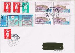 France - (R) Bloc De 4 Yv. 2660 + Marianne Du Bicentenaire (Briat) - Le Luc 13 Août 90 - Marcophilie (Lettres)