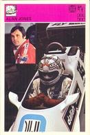 EX. YU. Sloveniasport. Advertising Card. Alan Jones. - Car Racing - F1