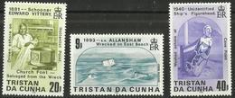 Tristan Da Cunha - 1986 Shipwrecks Series 2 Set Of 3 MNH **  SG 411-3   Sc 393-5 - Tristan Da Cunha