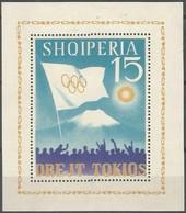 Albanie Albania 1964 Yvertn° Bloc 6K *** MNH Cote 32,50 Euro Jeux Olympiques Tokyo - Albanie