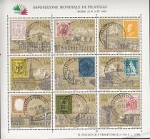 ITALIEN  1945-1953, Kleinbogen, Gestempelt, Internationale Briefmarkenausstellung ITALIA '85 - Blocks & Sheetlets