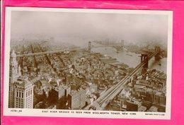 Cpa  Carte Postale Ancienne  - New York East River Bridges - Ponts & Tunnels