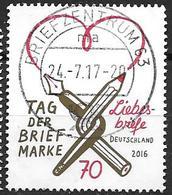 Allemagne 2016 N°3058 Oblitéré Lettres D'Amour - Usati