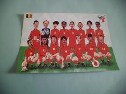 BELLE ILLUSTRATION HUMORISTIQUE CARICATURALE ...COUPE DU MONDE FOOTBALL 1998 ..LA BELGIQUE - Voetbal