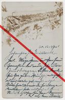 Wolmirstedt Bei Magdeburg - Fotokarte Von 1897 - Sehr Gute Erhaltung - Zeichnung Zeigt Fabrik Park Und Ortschaft - Wolmirstedt