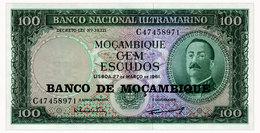 MOZAMBIQUE 100 ESCUDOS 1961(1976) Pick 117 Unc - Mozambique