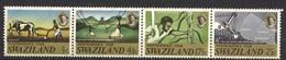 Swaziland, Yvert 157/160, Scott 142a, SG 137/140, MNH - Swaziland (1968-...)