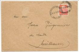 H265 - Autoplan Français MULHOUSE DORNACH - 16 Aout 1940 - Sur Timbre Hindenburg Surchargé Elsass - - Alsace Lorraine