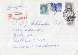 Nederland - Aangetekend/Recommandé Brief Vertrek Alkmaar - Aantekenstrookje Alkmaar 3558 - Marcophilie