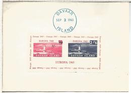 REINO UNIDO 1965 CC CON SELLOS DAVAAR ISLAND FARO LIGHTHOUSE MAT CAMPBELLTOWN - Leuchttürme
