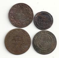 Suisse Lot De 4 Monnaies Différentes Cantons De Freyburg Argau Vaud Neuchatel - Svizzera