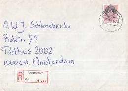 Nederland - Aangetekend/Recommandé Brief Vertrek Dordrecht - Aantekenstrookje Dordrecht 178 - Poststempels/ Marcofilie