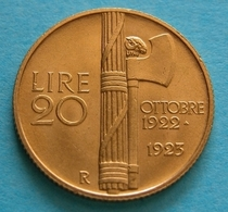 Regno - Vittorio Emanuele III 20 Lire 1923  ORO GOLD - 1861-1946 : Regno