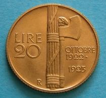 Regno - Vittorio Emanuele III 20 Lire 1923  ORO GOLD - 1861-1946 : Royaume