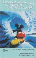 Télécarte Japon / 110-011 - DISNEY - FILM - FANTASIA - MICKEY ** Summer Campaign ** - PONY CANYON - Japan Phonecard - Disney