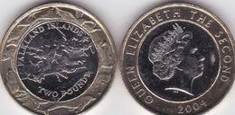 Falkland Islands - 2 Pounds 2004 UNC Bimetall Ukr-OP - Falkland Islands