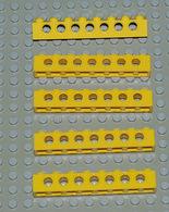 Légo Technic 5 X Jaune 1x8 Ref 3702 - Lego Technic