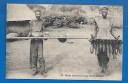 """AFRIQUE - REPUBLIQUE CENTRAFRICAINE - HAUTE-SANGA -TRIBU """"BAYAS"""" - INSTRUMENTS DE MUSIQUE - Central African Republic"""