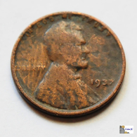 US - 1 Cent - Lincoln - 1937 - 1909-1958: Lincoln, Wheat Ears Reverse
