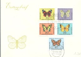 FDC DDR 1964 - Vlinders