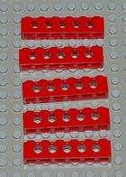 Légo Technic 5 X Rouge 1x6 Ref 3894 - Lego Technic
