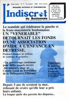 BOULOGNE SUR MER : L'INDISCRET DU BOULONNAIS -  Novembre 1988 N° 9 - J. GIRARD - Picardie - Nord-Pas-de-Calais