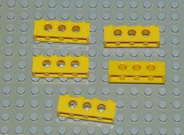 Légo Technic 5 X Jaune 1x4 Ref 3701 - Lego Technic