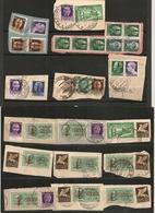 ITALIA Repubblica Sociale Frammenti 182 Stamps Fragments PER STUDIO / FOR STUDY/ POUR ETUDE - 1944-45 République Sociale