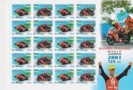 SAN MARINO 2001 BLOC MANUEL POGGIALI  THEME MOTO - Blocs-feuillets