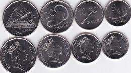 Fiji - Set 4 Coins 5 10 20 50 Cents 2009 - 2010 UNC Ukr-OP - Fidschi