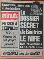 Minute N°477 (2/8 Juin 1971) Affaire Béatrice Le Mire - Bourguiba - Putsch Express- Faux Pilotes Libyens - 1950 - Today