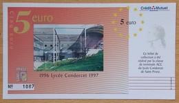 France 5 Euros SAINT-PRIEST (69) 1996 Lycée Condorcet 1997 - Euros Of The Cities