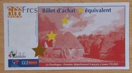 France 1 Euro Périgord La Dordogne 6.66 FRCS - Euros Of The Cities