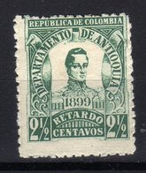 1899 COLOMBIA ANTIOQUIA General Jose Maria Cordoba MLH STAMP - Colombia