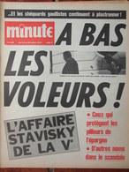 Minute N°483 (14/20 Juil 1971) L'affaire Stavisky De La Ve - Pollution En France - Mme Claude Du Gross Berlin - 1950 - Today