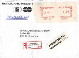 Nederland - Aangetekend/Recommandé Brief Vertrek Arnhem - Aantekenstrookje Arnhem Johan De Wittlaan 197 - Poststempels/ Marcofilie