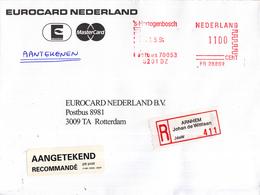 Nederland - Aangetekend/Recommandé Brief Vertrek Arnhem - Aantekenstrookje Arnhem Johan De Wittlaan 411 - Poststempels/ Marcofilie