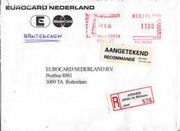 Nederland - Aangetekend/Recommandé Brief Vertrek Arnhem - Aantekenstrookje Arnhem Johan De Wittlaan 576 - Poststempels/ Marcofilie