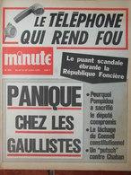 Minute N°484 (21/27 Juil 1971) La Boisserie - Frères Willot - J Baudrier - Panique Chez Les Gaullistes - 1950 - Today