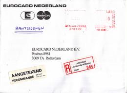Nederland - Aangetekend/Recommandé Brief Vertrek Arnhem - Aantekenstrookje Arnhem Johan De Wittlaan 886 - Poststempels/ Marcofilie