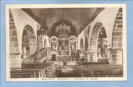 Malansac (56) Intérieur De L'église 2 Scans - France