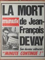 Minute N°485 (28 Juil 1971) Mort De JF Devay - - 1950 - Today