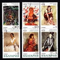 Bulgaria Scott 1964-1969 1971 Paintings, Used - Gebraucht