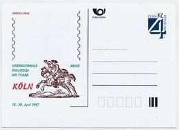 CZECH REPUBLIC 1997 Postcard Köln Philatelia & T-Card '97 Unused.  Michel P26-A2 - Postal Stationery
