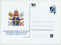 CZECH REPUBLIC 1997 Postcard Papal Visit Unused.  Michel P26-A1 - Postal Stationery