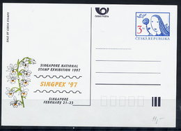 CZECH REPUBLIC 1997 3 Kc. Postcard SINGPEX 1997, Unused.  Michel P18-A3 - Postal Stationery