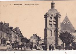 95- PONTOISE- PLACE-NOTRE-DAME- ANIMEE - Pontoise